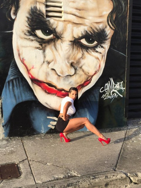 Lorraine with the Joker