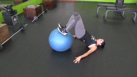 Hamstring Curls Using an Inflatable Ball