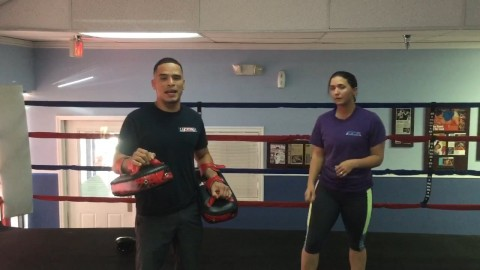 Kickboxing kick exercise