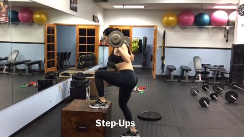 Step ups with weight